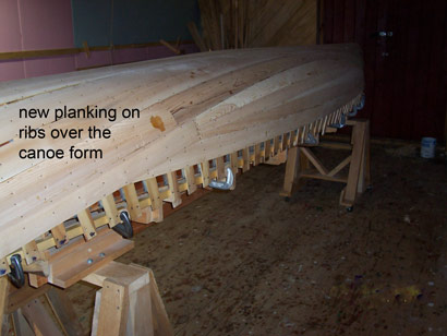 planking on  hull
